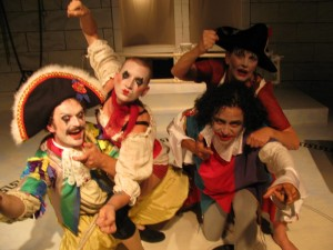 Marat Sade storytelling clowns