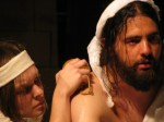Simone washes MARAT in Marat Sade at California Stage